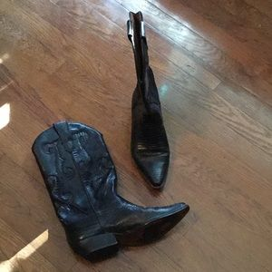 Nine West Black Cowboy Boots